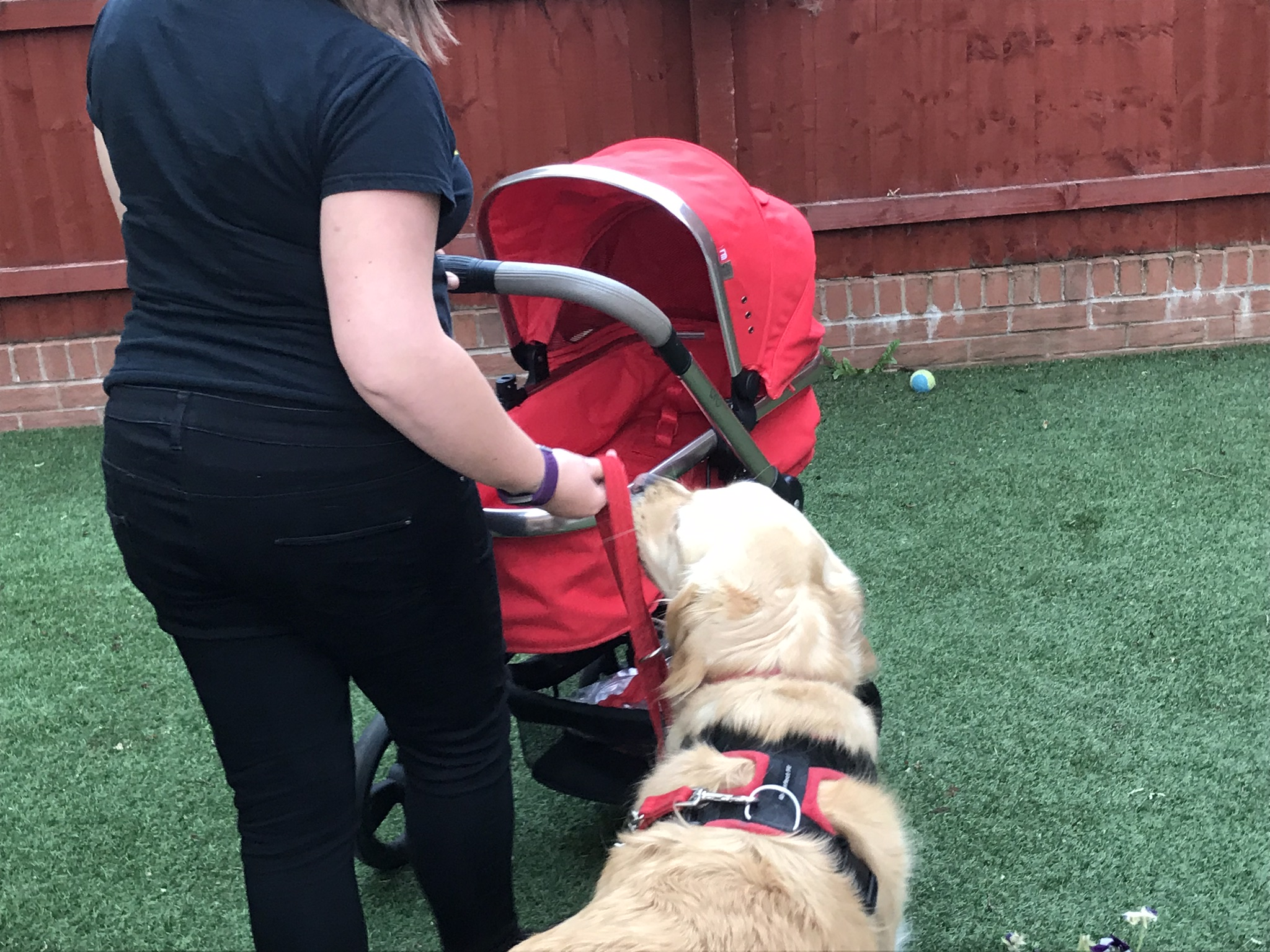 Training to walk with the pram