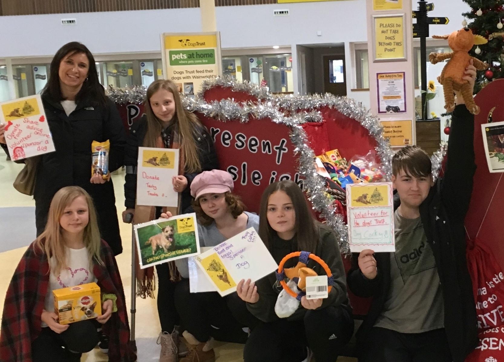 Some of the students came up with how we can help dogs this christmas